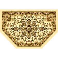 Semi Circle Rugs Buy Home Dynamixgrand Royalty Semicircle Blue Transitional Accent
