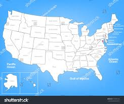 Washington State Detailed Map Stock by Vector Map United States Highlighting Washington Stock Vector