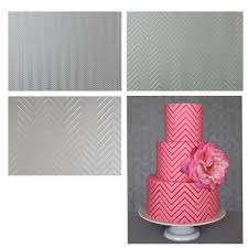 amazon com sweet elite tools chevron texture sheets set of