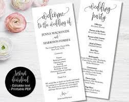 wedding program booklets wedding booklet etsy