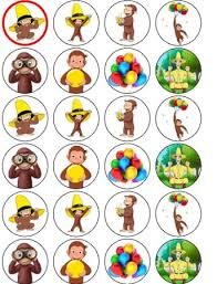 curious george cupcakes buy curious george un cut edible wafer cupcake decorations x 24 in