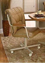 Amazoncom Casual Rolling Caster Dining Chair With Swivel Tilt - Caster dining room chairs