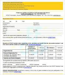 10 printable registration form templates free sample exmaple