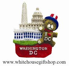 magnet ceramic white house washington monument u s capitol