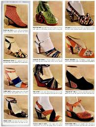 1939 shoes heels print ad 30s 40s war era pumps wedge carved wool