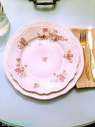 ikea pink plates shabby shae not too shabby