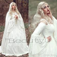 renaissance gothic lace ball gown wedding dresses with cloak 2017