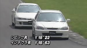 watch this ek9 civic type r and dc2 integra type r battle the drive