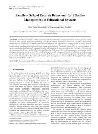 excellent records behaviour for effective management of
