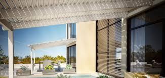 Pergola Sun Shades by Wall Mounted Pergola Aluminum With Mobile Slats Sun Shade