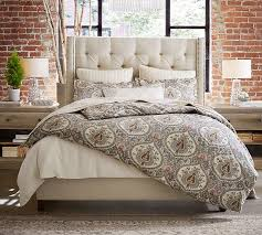 How To Make A Bed With A Duvet Darcy Printed Duvet Cover U0026 Sham Pottery Barn