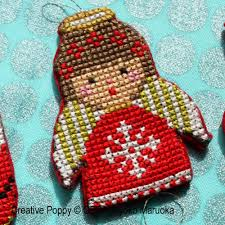 gera by kyoko maruoka ornaments cross stitch pattern