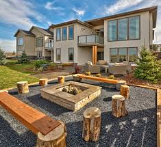 magnificent bonfire pit in patio contemporary with front house