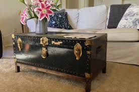 coffee tables trunk style coffee table intriguing steamer trunk