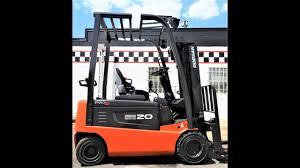 d20554 low hour 2011 doosan 4k electric pneumatic tire forklift