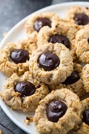 gluten free chocolate hazelnut thumbprint cookies jessica gavin