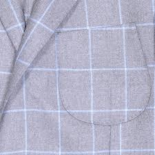 loro piana silk and cashmere windowpane jacket brown and blue