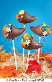 cornucopia cake pops thanksgiving cake pops mini cakes stock