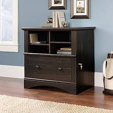 Sauder Harbor View Bookcase With Doors Antique White by Sauder Harbor View Antiqued White File Cabinet 158002 The Home Depot