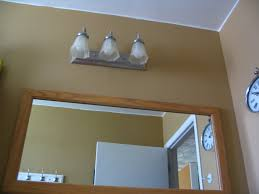 bathroom light off center mirror sink design mirrors home