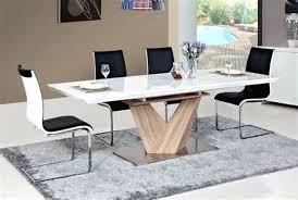 cuisine avec table s duisant table de cuisine blanche rectangulaire contemporaine b