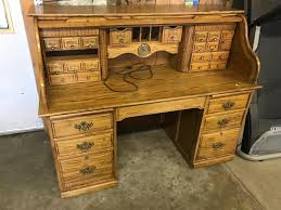 solid oak roll top desk large solid oak roll top desk quality piece