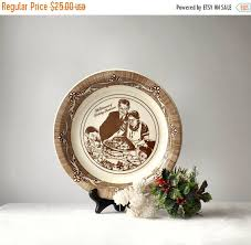 vintage norman rockwell ceramic pie plate by momsantiquesnthings