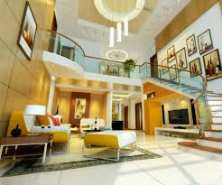 Simple Living Room And Lighting by Chic Living Room Ceiling With Large Windows And Simple Recessed