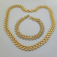 vintage gold chain necklace images Monet jewelry vintage gold chain necklace bracelet set poshmark jpg