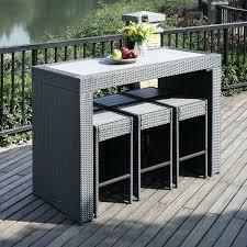 bar stool table set of 2 bar stool table set portfolio aldrich grey 7 piece indoor outdoor