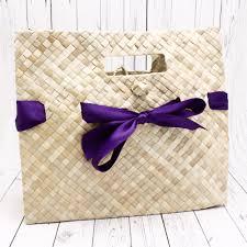 leaf ribbon palm leaf ribbon welcome bags favor bags favor packaging