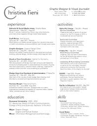 Graphic Design Resume Objective Resume Simple Design Resume
