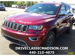 jeep red 2017 2017 velvet red pearl jeep grand cherokee limited 4x4 115209113