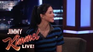 jimmy kimmel hair loss sarah silverman talks to matt damon about her relationship with
