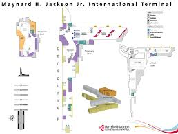 atlanta international airport map atlanta terminal map my