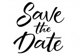 save the date lettering vector free