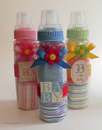 great baby shower gifts washcloth baby bottle unique baby shower gifts and favors