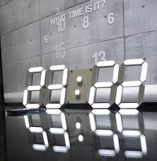 ivation clock cool led digital wall clock 62 led digital wall clock flipkart
