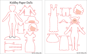 template diy diy paper doll templates kiddley