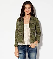 American Eagle Parka Ae Cropped Camo Jacket Classic Camo American Eagle Outfitters On
