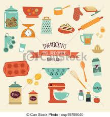ensemble recette vecteur cuisine conception icône vecteur