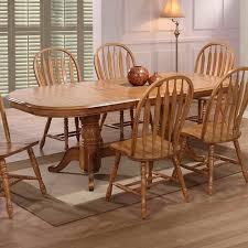 Missouri Double Pedestal Dining Table In Rustic Oak Nebraska - Rustic oak kitchen table