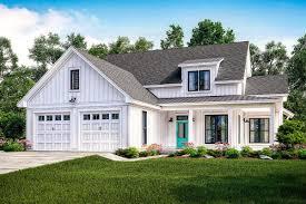 farmhouse plan exclusive modern farmhouse plan with flexible upstairs 51765hz