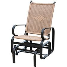 Outdoor Patio Rocking Chairs Amazon Com Patiopost Glider Chair Outdoor Pe Wicker Patio