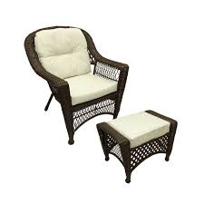 Patio Chair With Ottoman Patio Chair With Ottoman Set Christopher Knight Home Lionel