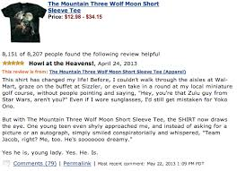 3 Wolf Moon Meme - george takei s review of the mountain three wolf moon short