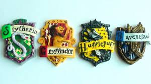 polymer clay hogwarts house crests youtube