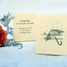 seed favors bridal shower seed favors umbrella design plant a memory