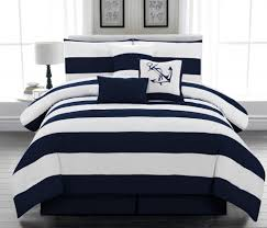 amazon com 7pc microfiber nautical themed comforter set navy