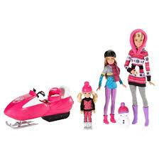 barbie sisters snow fun doll giftset target